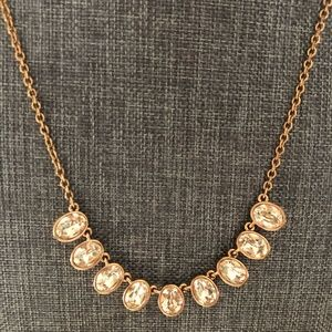 Touchstone Crystal Blush Petite Oval Necklace
